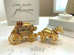 Rare Estee Lauder 2003 Gilded Stagecoach Parfum Solide Compact Mibb Pleasures