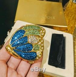 Rare Estee Lauder Cristal Papillon Lucidity Poudre Miroir Compact Glitter Bug