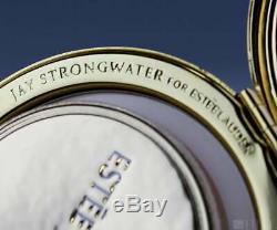 Rare Estee Lauder Jay Strongwater Argent Avec Poudre De Cristal Compacts. Collectible