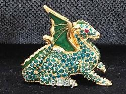 Rare Estee Lauder Magnifique Dragon Magic Crystal Compact Pour Parfum Solide 1999