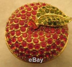 Rare Estee Lauder Parfum Solide Collection Compact D'apple 1997 Dazzling Or Ue