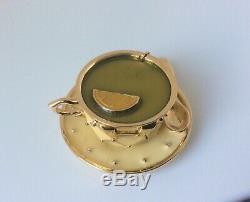 Rare Estee Lauder Parfum Solide Collection Vide Coupe Compact Thé 1998