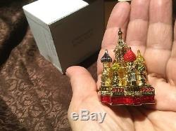 Superbe Estee Lauder Cathedral Square Compact Parfumé Avec Boites