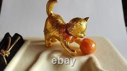 Swarovski, Estee Lauder Delightful Kitten Parfum Creme Compact