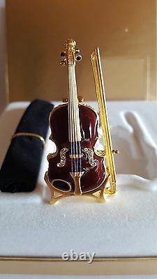 Swarovski, Estee Lauder Violon En Stand, Parfum Creme Compact