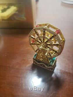 Swarowski, Estee Lauder Ferris Wheel Compact Parfum Compact Avec Pochette 2000
