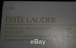 Ti-004 Estee Lauder Canada Mon Canada Compact Lucidité Nos Avec Boîte 1990