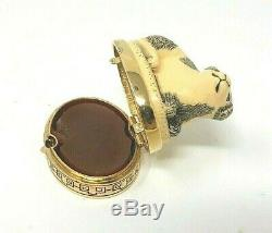 Vintage Estee Lauder Cinabre Imperial Chien Parfum Solide Compact. 13 Oz Rare