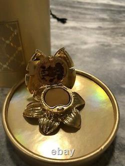 Vintage Estee Lauder Enchanted Papillon Parfum Solide Compact Avec Boîte Belle