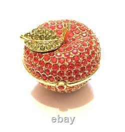 Vintage Estee Lauder Linge De Maison Blanc Parfum Solide Compact Rouge Cristal Apple Full