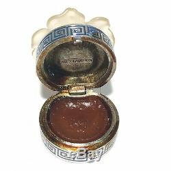 Vintage Estee Lauder Parfum Solide Compact Noël Blanc Camélia Pleine Fleur